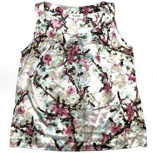 St. John | 100% Silk Floral Sleeveless Top Size M